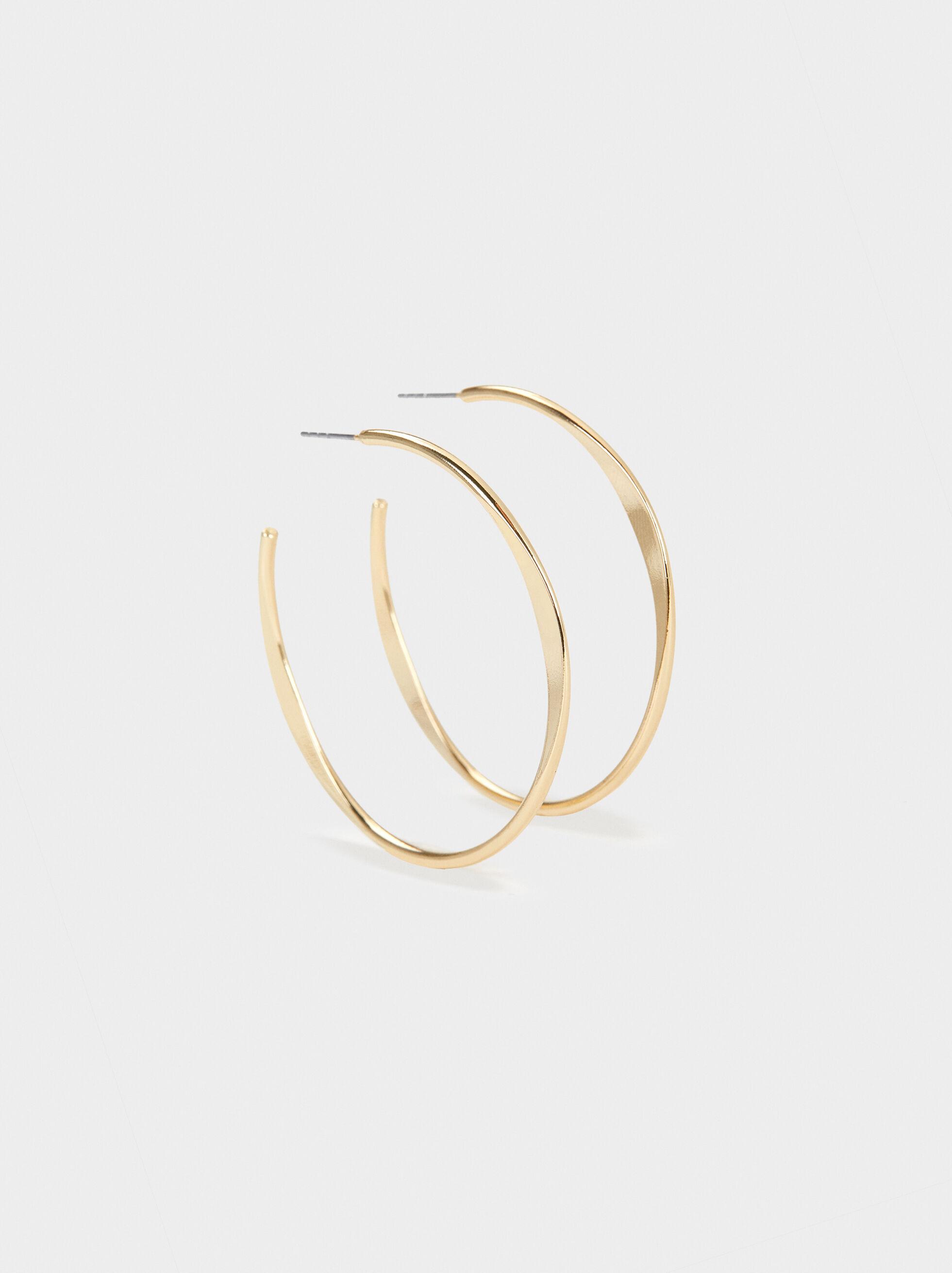 Basic Large Hoop Earrings, , hi-res