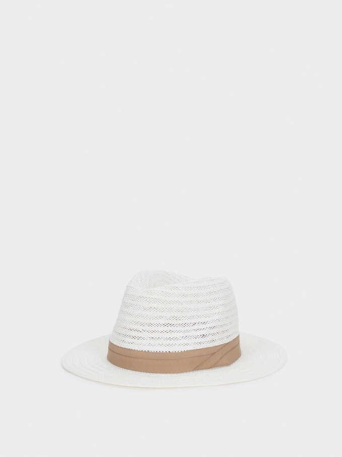 Woven Hat, Ecru, hi-res