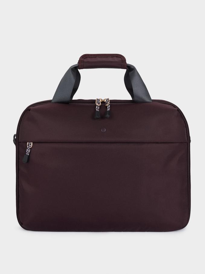 """Nylon Briefcase For 13"""" Laptop, Bordeaux, hi-res"""