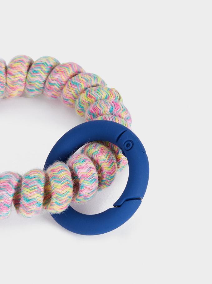Elastic Key Ring, Multicolor, hi-res
