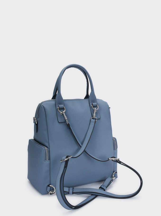 Multi-Way Backpack With Detachable Straps, Blue, hi-res