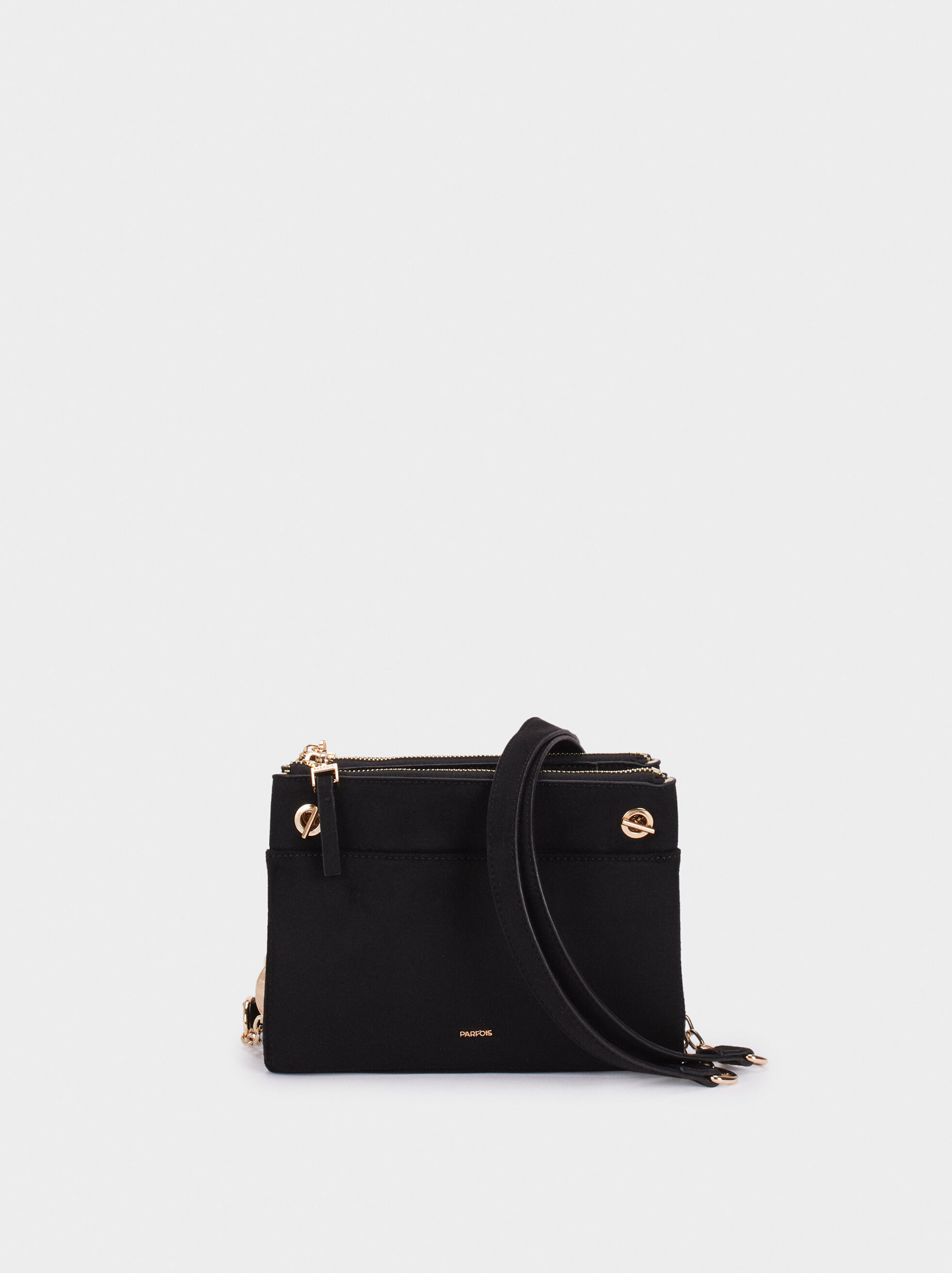 Fake Suede Crossbody Bag, , hi-res