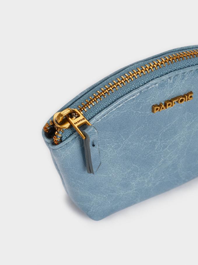 Zipped Purse, Blue, hi-res