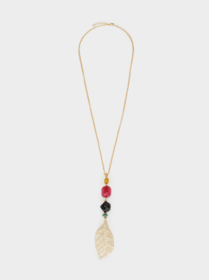 Wild Color Long Pendant Necklace, Multicolor, hi-res