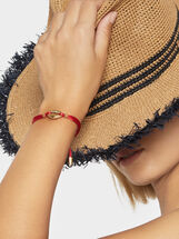 Adjustable Steel Bracelet With Seashell Motif, Golden, hi-res