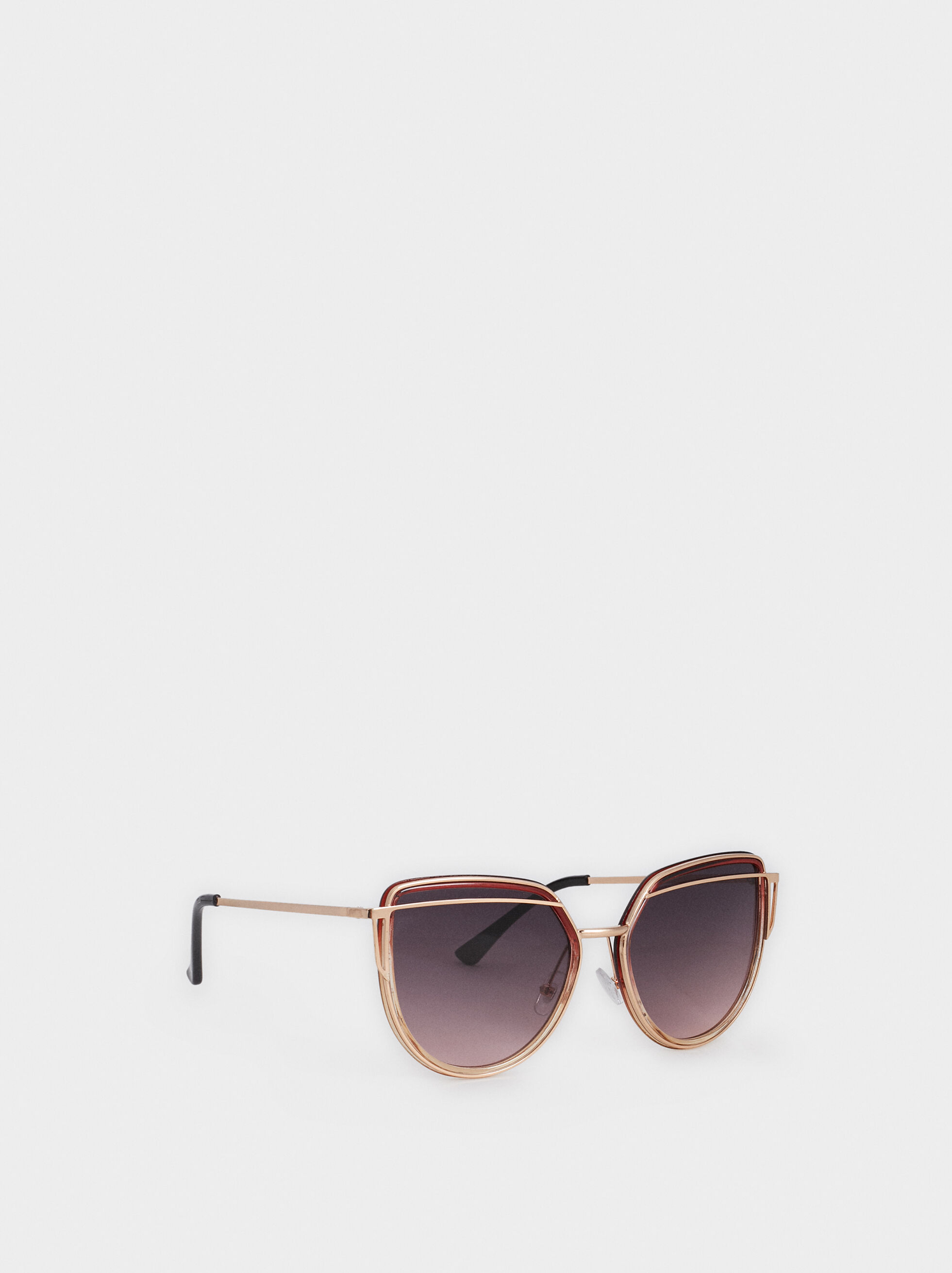 Cat Eye Sunglasses, Golden, hi-res