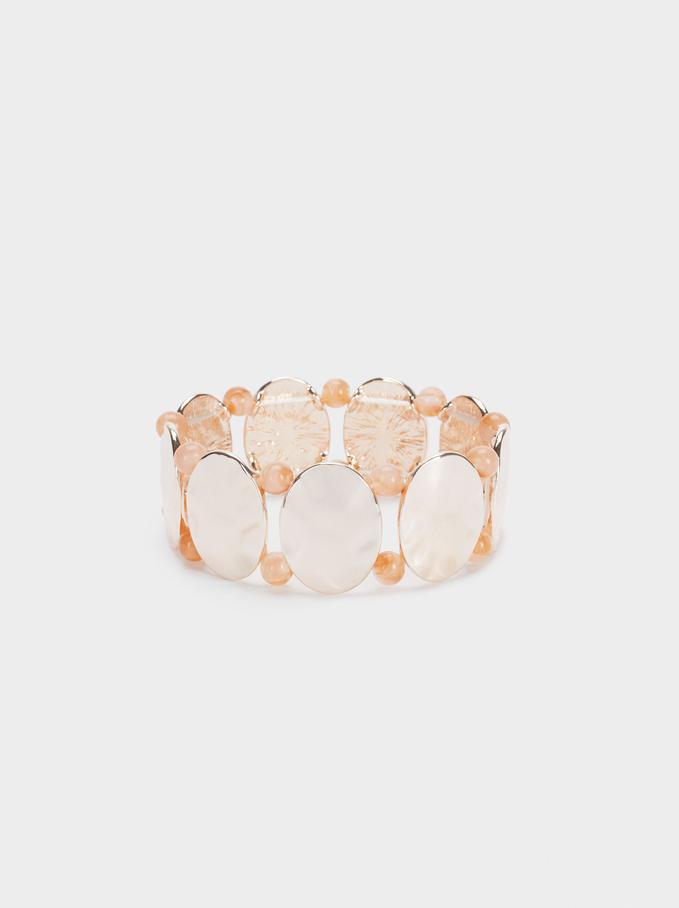 Geometric Elastic Bracelet, Orange, hi-res