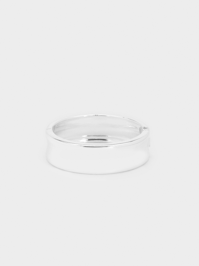 Silver-Plated Rigid Bracelet, Silver, hi-res