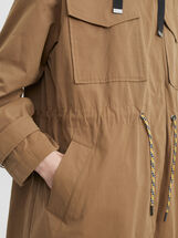 Jacket With Adjustable Waist, Brown, hi-res
