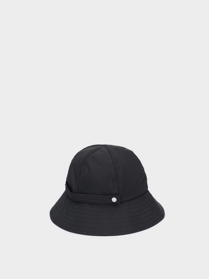 Waterproof Rain Hat, Black, hi-res