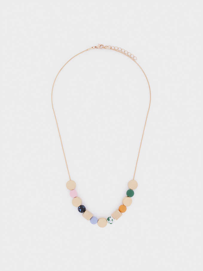 Short Necklace With Beads, Multicolor, hi-res