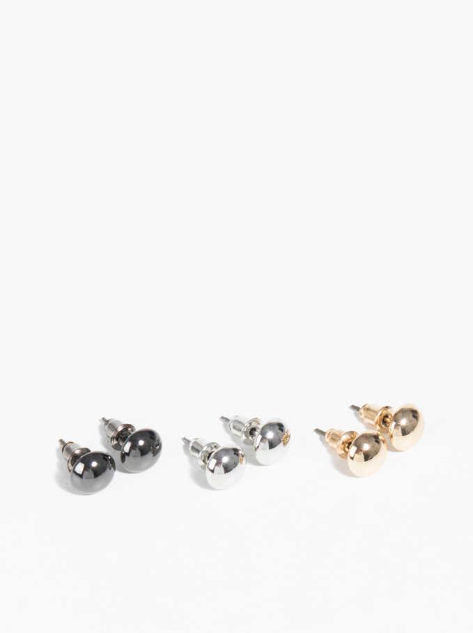 Basic Set Of Earrings, Multicolor, hi-res