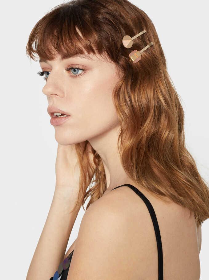 Frost Hair Clip Set, Multicolor, hi-res