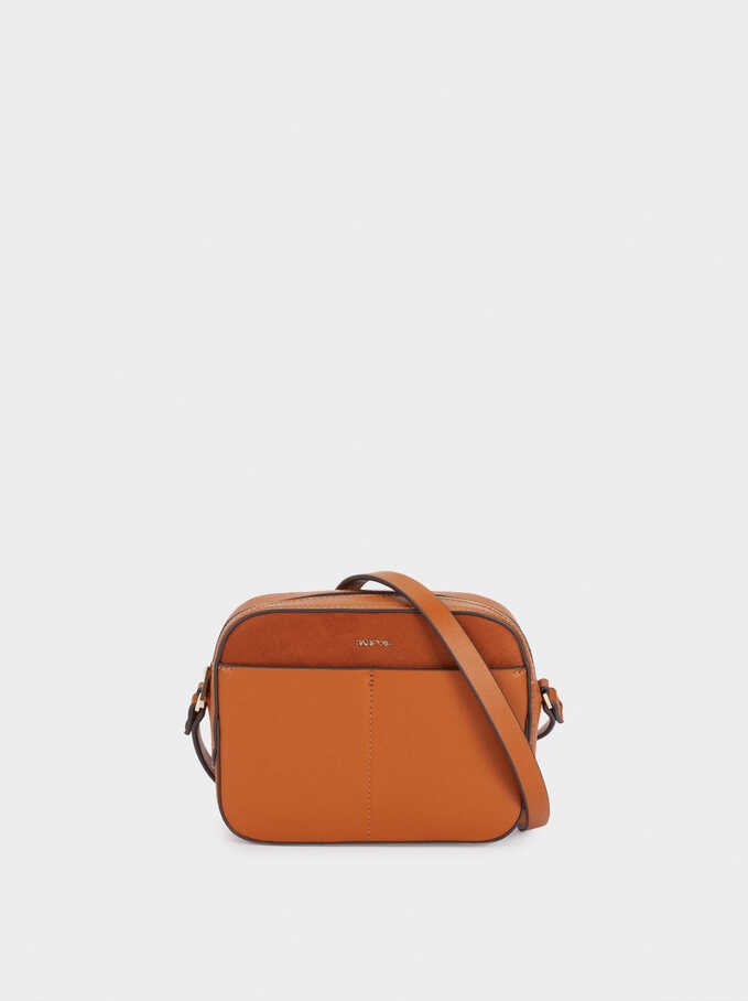Combined Crossbody Bag, Camel, hi-res
