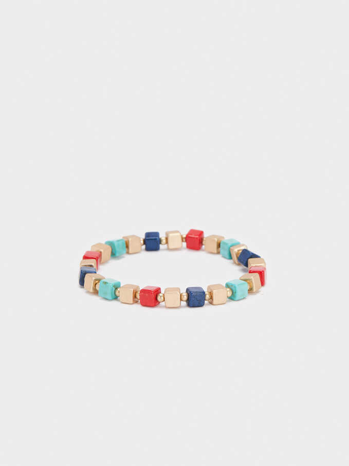 Elastic Bracelet With Stones, Multicolor, hi-res