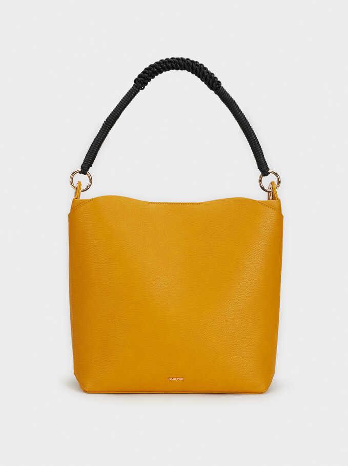 Plain Shoulder Bag, Mustard, hi-res