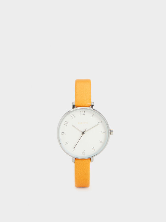 Faux Leather Watch, , hi-res