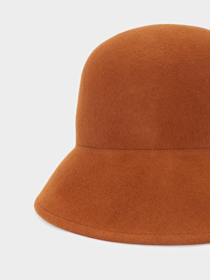 Chapéu Cloché De Lã, Camel, hi-res
