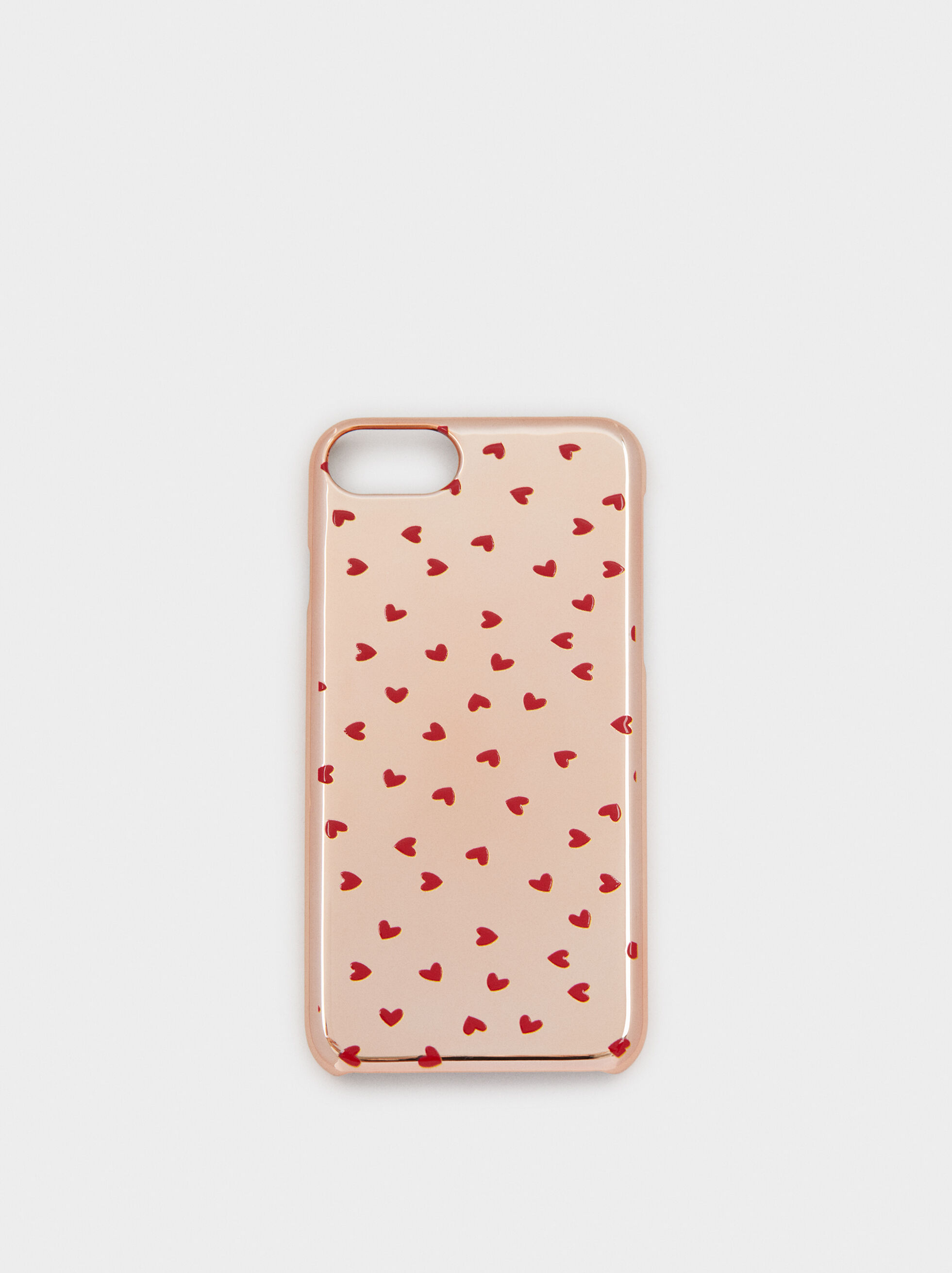 Heart Print Iphone 6/7/8 Case, Orange, hi-res