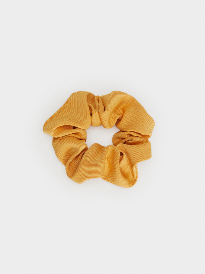 Basic Scrunchie, Mustard, hi-res