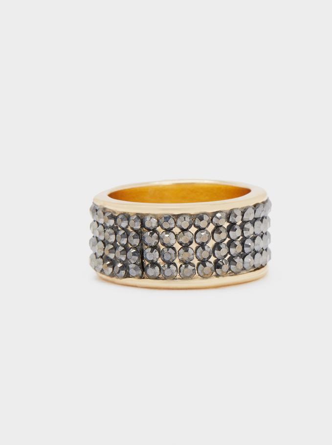 Rrhinestone Ring, Multicolor, hi-res