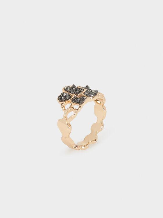 Ring With Rhinestones, , hi-res