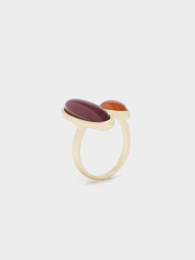 Multicoloured Resin Ring, Multicolor, hi-res