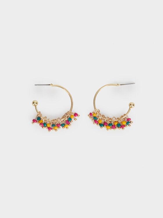 Cosmic Pink Small Hoop Earrings, , hi-res