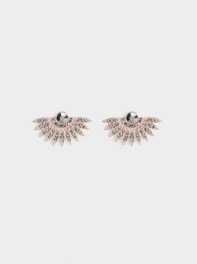 Pink Desert Earrings, Orange, hi-res
