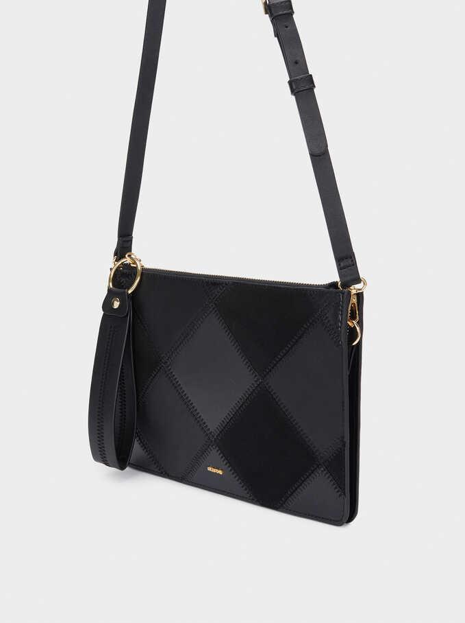 Patchwork Hand Bag, Black, hi-res