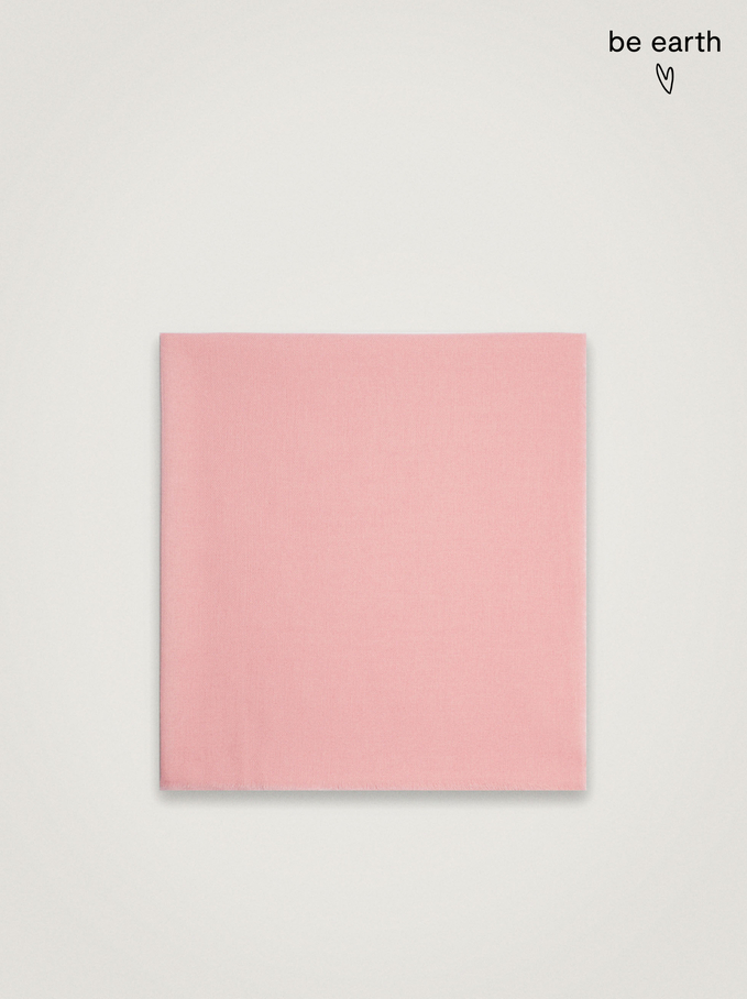 Plain Pashmina Made From Recycled Materials, Pink, hi-res