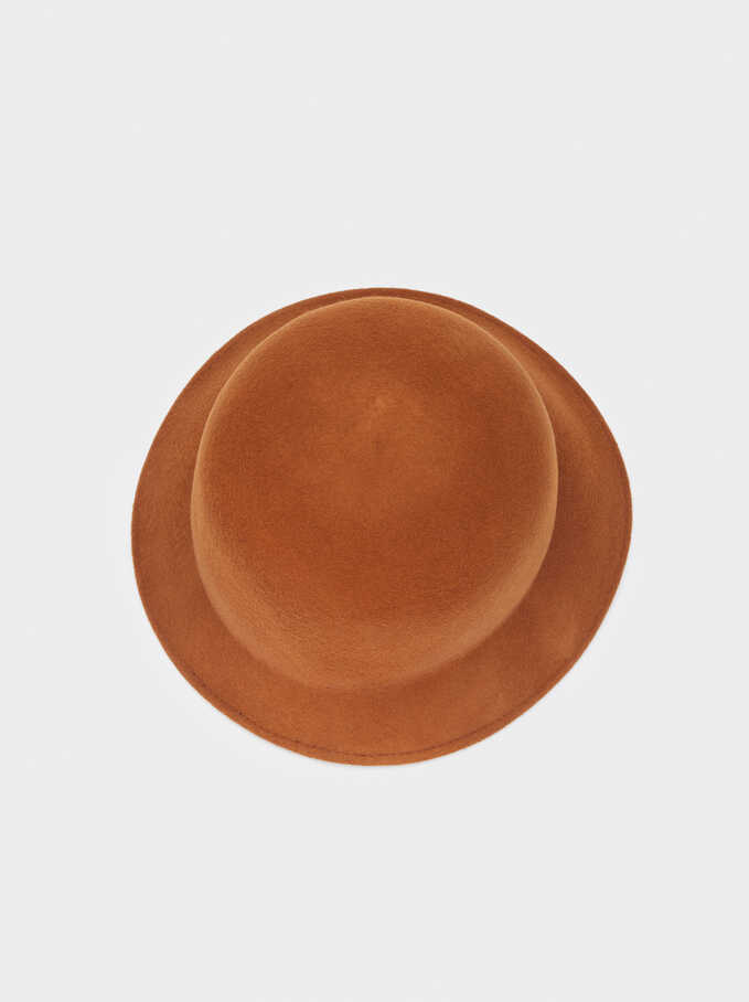 Cloché Wool Hat, Camel, hi-res