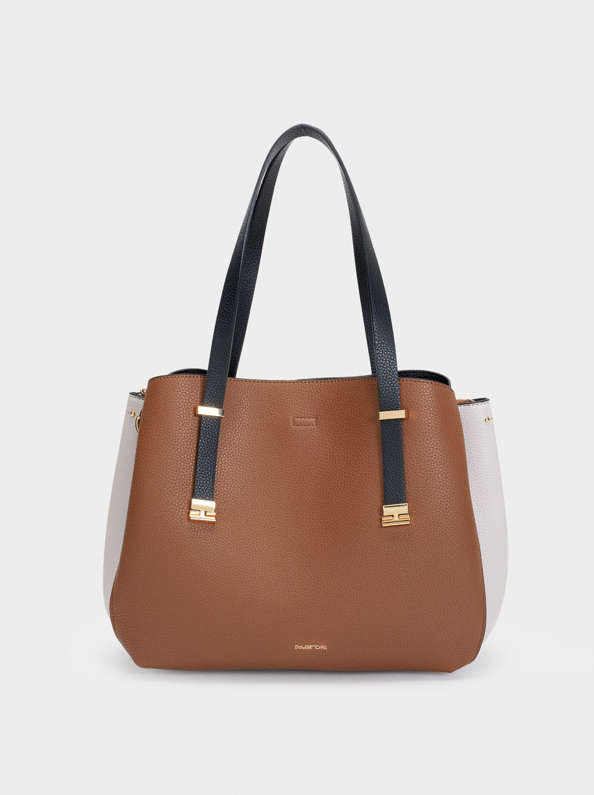 Embossed Tote Bag, Camel, hi-res