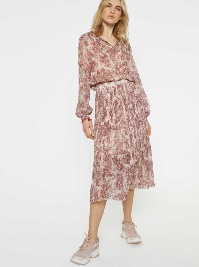 Floral Tunic, Pink, hi-res