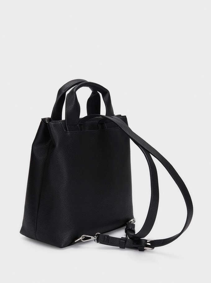 Backpack With Outer Pockets, Black, hi-res