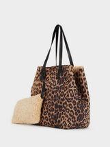 Animal Print Tote Bag, , hi-res