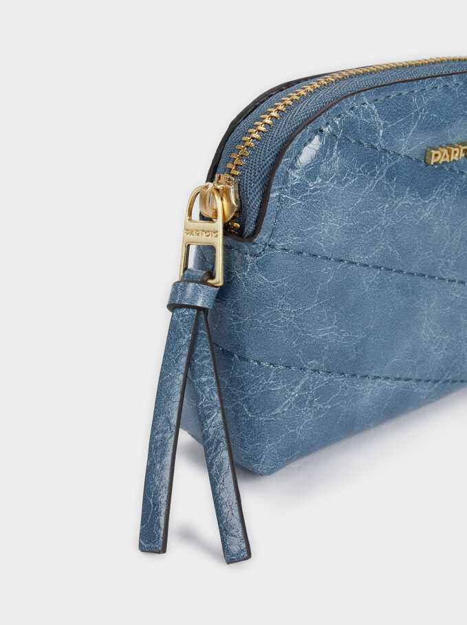 Quilted Purse, Blue, hi-res