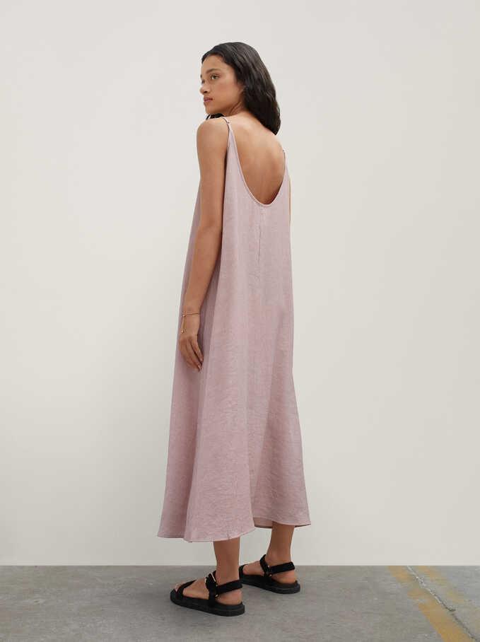 Long Strap Dress, Pink, hi-res