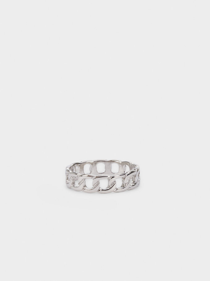 Silver Ring With Links, Silver, hi-res