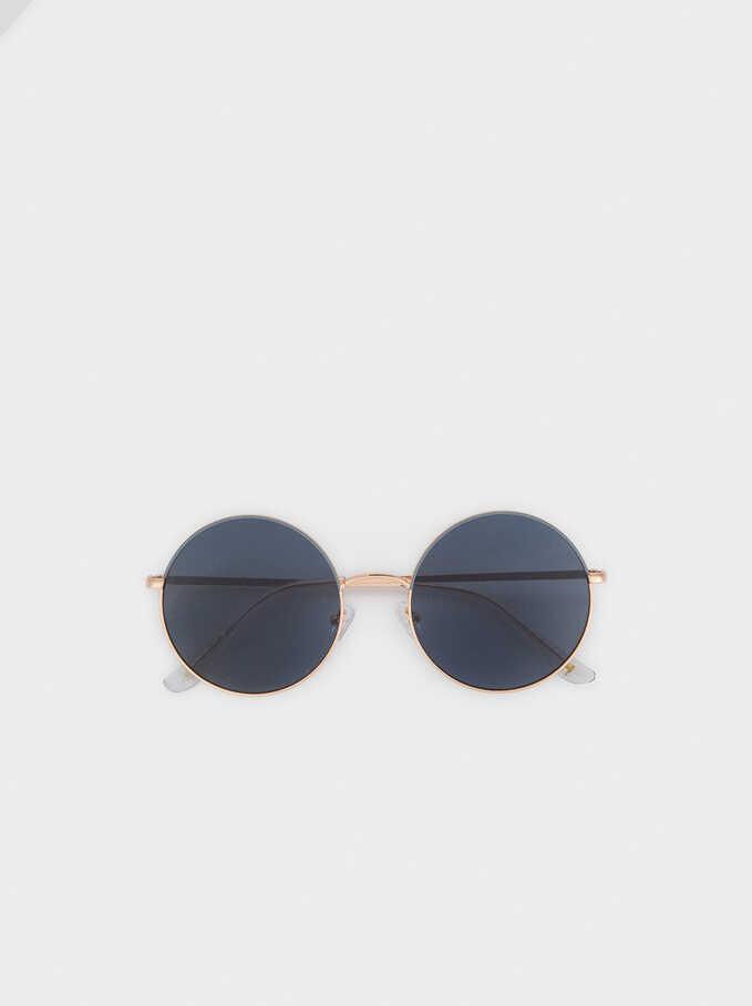 Gafas De Sol Metálicas Redondas, Naranja, hi-res