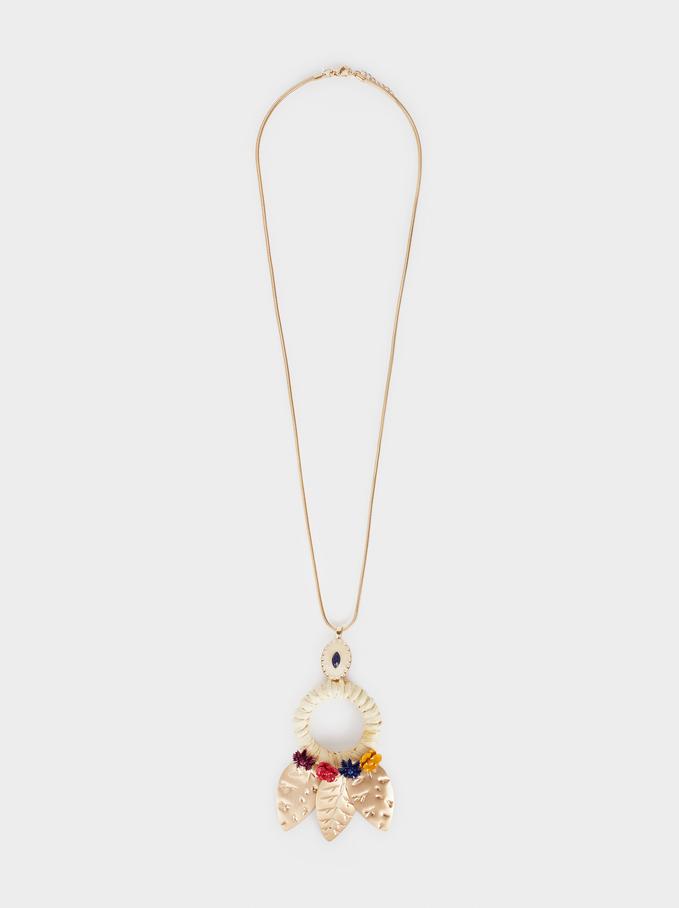 Wild Color Long Beaded Necklace, Multicolor, hi-res