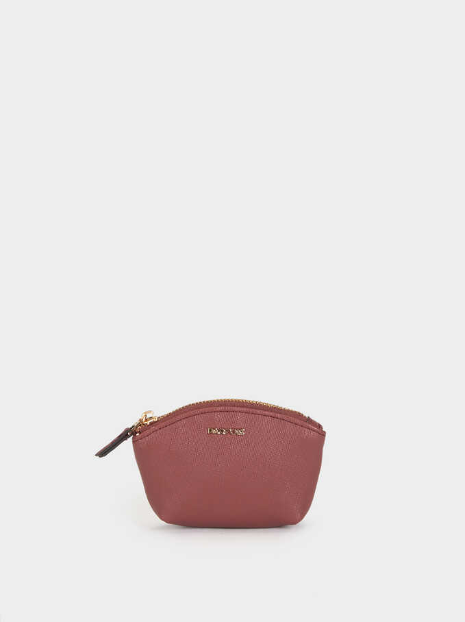 Small Plain Purse, Pink, hi-res