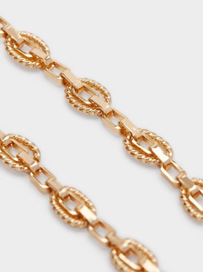 Gold Bracelet With Links, Golden, hi-res
