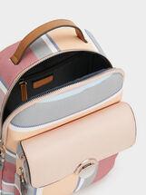 Striped Backpack, Pink, hi-res