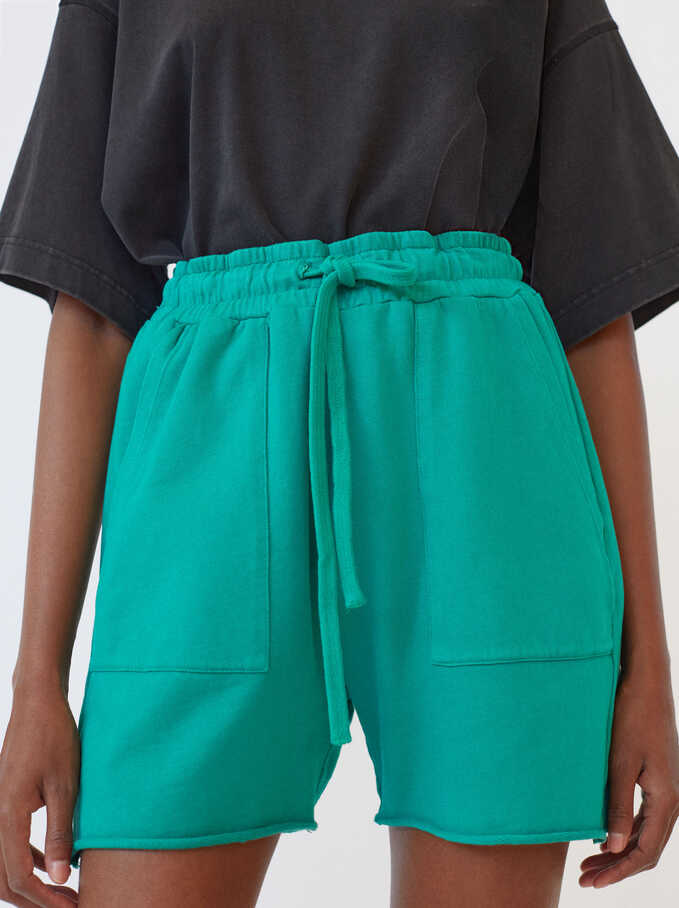 Shorts With Pockets, Green, hi-res
