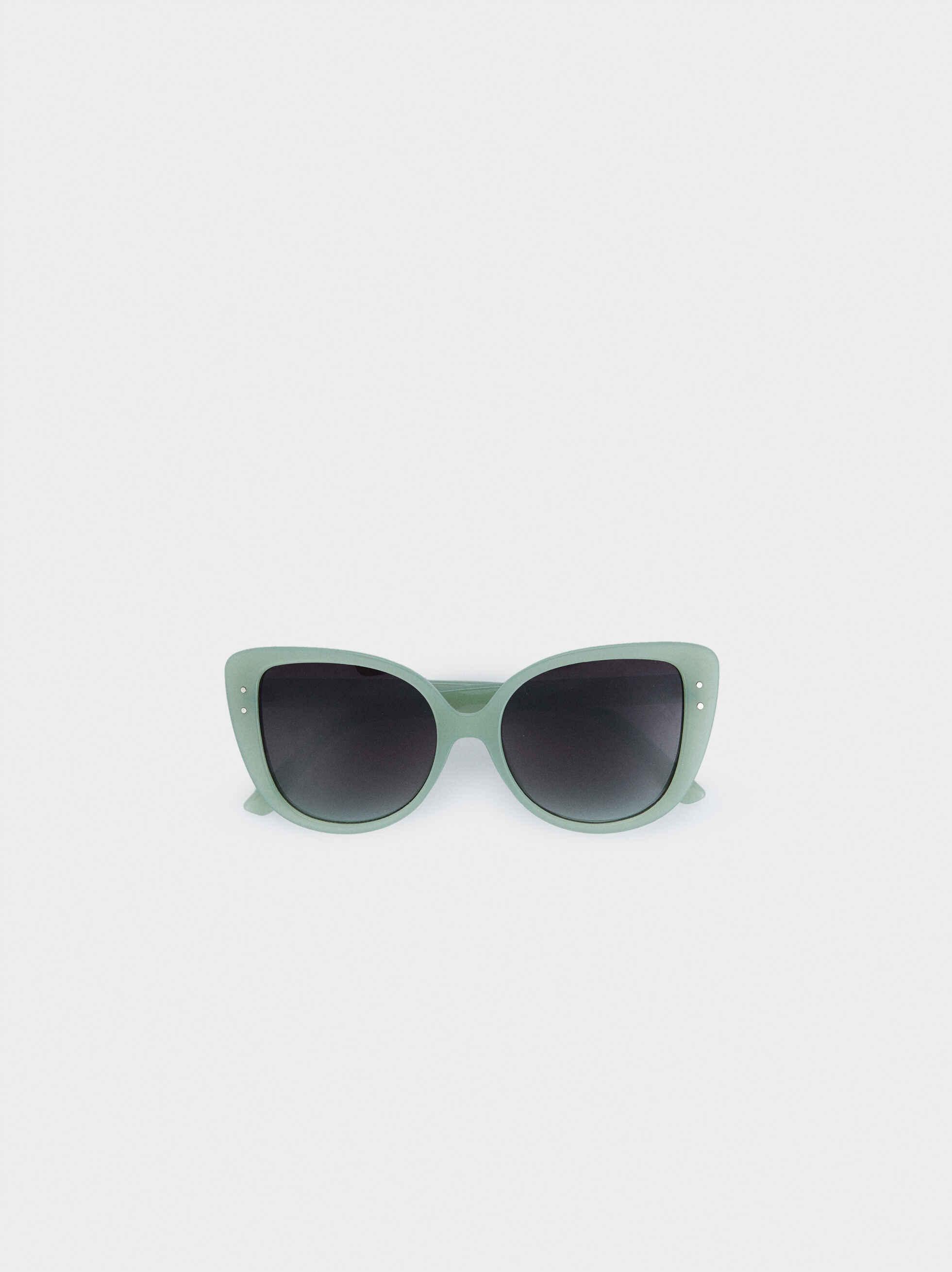 Gafas De Pasta Moldura Redonda, Verde, hi-res
