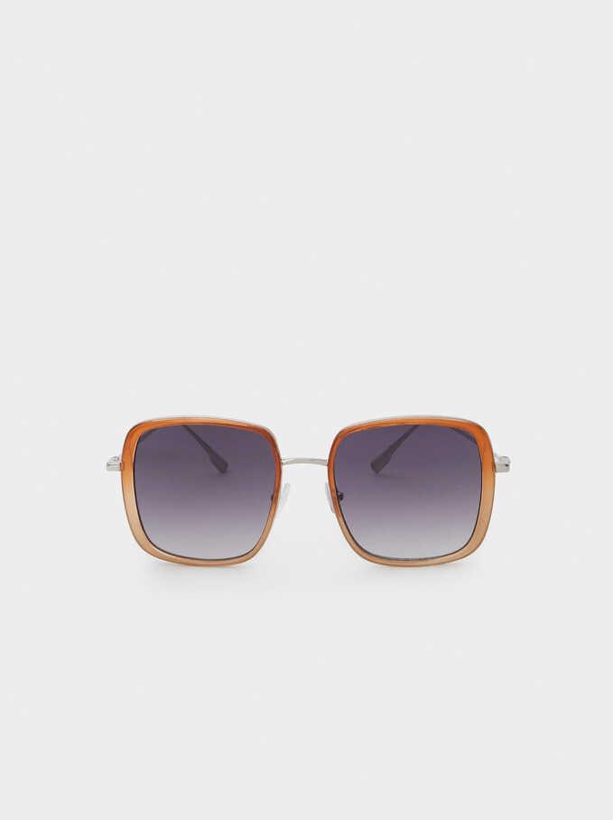 Square Sunglasses, Orange, hi-res