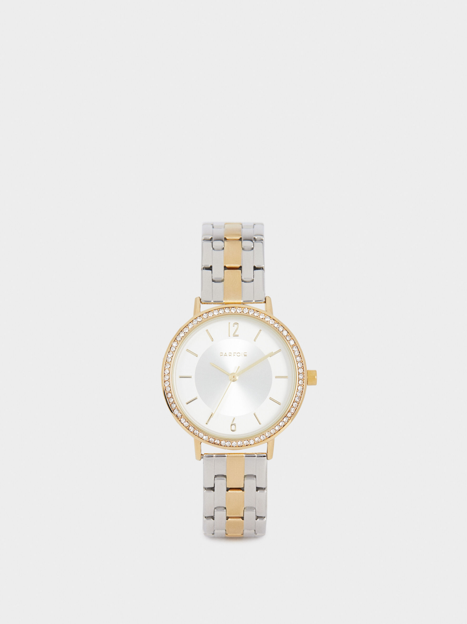 Watch With Stainless Steel Strap, Golden, hi-res