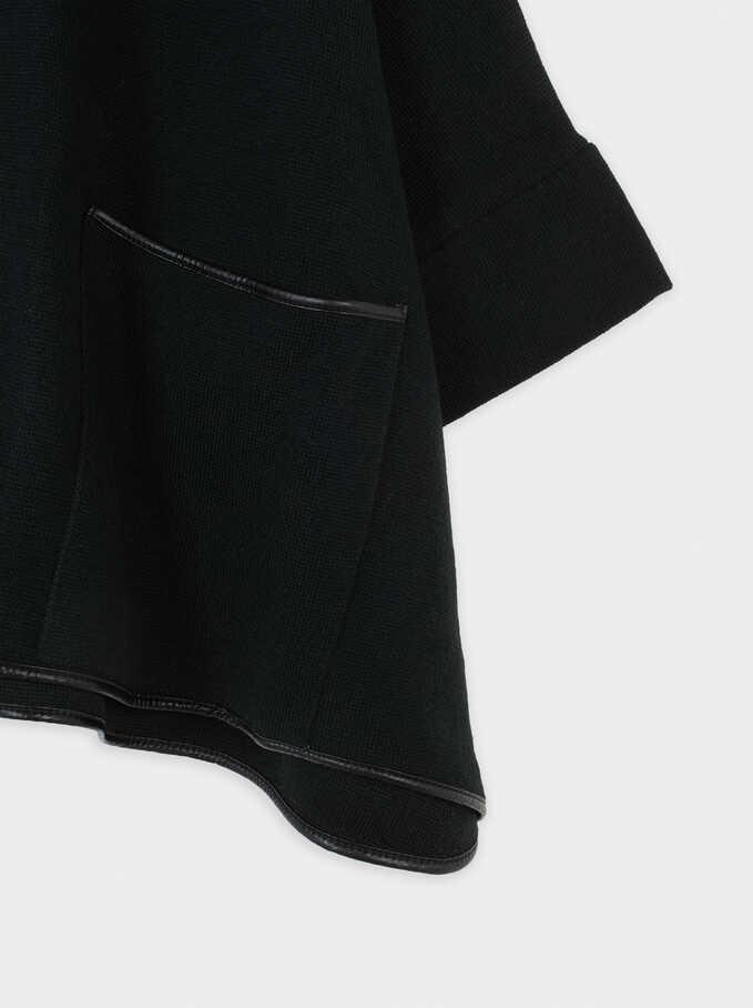 Poncho De Punto, Negro, hi-res