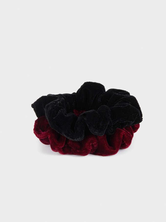 Scrunchie Set, Black, hi-res